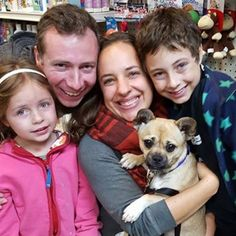 Look at the beautiful smiles on this family! They welcomed our cutie pie Gunner into their hearts and home today! ❤️❤️ #nyc #adoptdontshop #animalrescue #animallovers #animallover #instapet #instadog #dogsofinstagram #dogstagram  #rescue #rescuedog #furbaby  # #puppy #animaladoption #parkslope #prospectpark