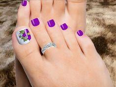 Las mejores decoraciones de uñas de los pies, uñas de los pies diseños. - Peinados y Salud Xmas Nail Art, Christmas Manicure, Xmas Nails, Holiday Nails, Hot Pink Toes, Summer Nails Neon, Nail Art Videos, Winter Nails, Toe Nails