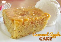 Caramel Apple Pie Cake recipe from The Country Cook