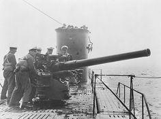 U-Boats ~ German UBoat Crew Undergo Gunnery Exercises 1939 ~ Getty Images ~ BFD