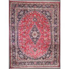 Semi-antique Persian Mashad Area Rug 44703 - Area Rug area rugs