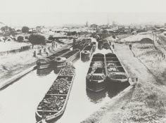 BW192-3-2-2-2-65Day boats loading coal at Hednesford on the Birmingham Canal Navigations