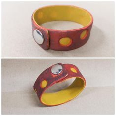 Fimo Leather Effect -massasta valmistettu rannekoru. Belt, Bracelets, Leather, Accessories, Jewelry, Fimo, Bangles, Jewellery Making, Waist Belts