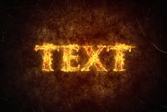 Create a Simply Fiery Text Effect in Photoshop - http://wp.me/p4R2sX-drh