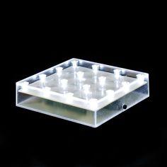 "5"" Square, 16 LED LIGHTS, Centerpiece Light Base - WholesaleFlowersAndSupplies.com"