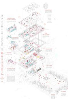 matos castillo – Famous Last Words Architecture Presentation Board, Architecture Concept Drawings, Architecture Graphics, Architecture Diagrams, Presentation Boards, Architectural Presentation, Architectural Models, Architectural Drawings, Parametric Architecture