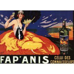 Fap'Anis Celui Des Connaisseurs - Vintage Advertisement (Acrylic Serving Tray)