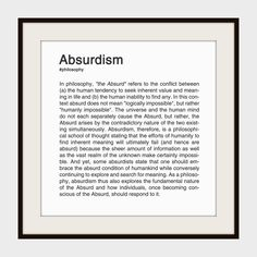ABSURDISM.