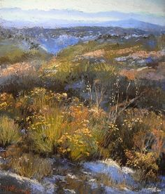 Truchas Vista November by Margi Lucena Pastel ~ 14 x 11