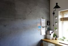 Concrete look, bare plastered wall. With magnetic plaster. Perfect for play rooms, home offices, kitchens... perfect for the industrial interiors lover.