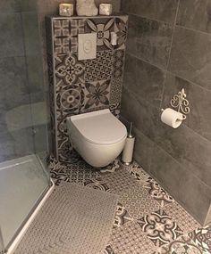 Bathroom Design Luxury, Bathroom Interior, Toilet Design, Floor Design, Amazing Bathrooms, Small Bathroom, Decoration, Ideas, Toilet Decoration