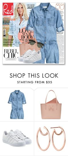 """""""Style Icon: Gwyneth Paltrow"""" by coraline-marie ❤ liked on Polyvore featuring Givenchy, Ted Baker, adidas Originals and Ray-Ban"""