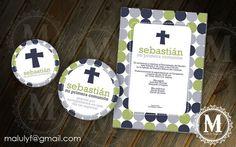 FIRST communion/ Baptism  - DIY Printable Party Invitation. $15.00, via Etsy.