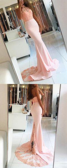 Mermaid Prom Dress Long, Prom Dresses Halter Neckline, Graduation Party Dresses, Formal Dress For Teens, BPD0429