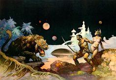 Thuvia, Vierge de Mars, par Frank Frazetta, 1974