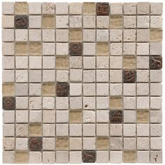 SomerTile 12x12-in Basilica 1-in Gloucester Glass/Stone Mosaic Tile (Pack of 10) | Overstock.com