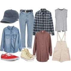 MAC DEMARCO by elizabethirwin on Polyvore featuring moda, Annie Greenabelle, HM, A.P.C., rag bone, River Island, Converse, Vans and Madewell