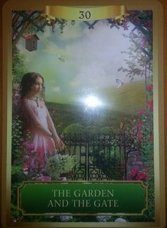 03/03/15  Today's card was drawn from the Energy Oracle Cards by Sandra Anne Taylor. Today's Card is #30 The Garden and the Gate (presented upright) This card shows a peaceful young woman in a beautifully bl...