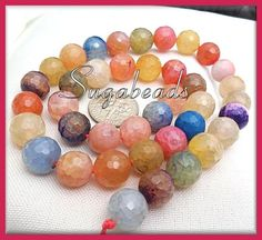 Faceted Dragon Vein Agate Multi Color 10mm 1 Strand | 9.99 Sugabeads - Jewelry Supplies on ArtFire
