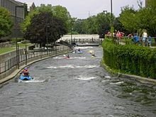 East Race Waterway, St. Joseph River - North America's first artificial whitewater waterway and the first of four in the United States