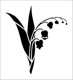 Lily of The Valley Solo stencil from The Stencil Library online catalogue. Buy stencils online. Stencil code CS50.