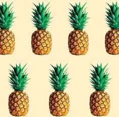 PINEAPPLE: A tropical American plant (Ananas comosus) having large swordlike leaves and a large, fleshy, edible, multiple fruit with a terminal tuft of leaves. Pineapple Pattern, Tropical Pattern, Pineapple Print, Pineapple Design, Patterns Background, Textures Patterns, Print Patterns, Art Tropical, Pineapple Health Benefits