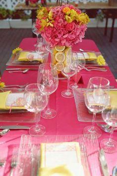 Inspirational Rainbow Tea Table Decorating Ideas