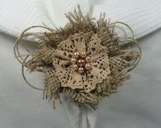 Porta guardanapo flor rústica
