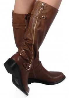 Slanted Zip Buckle Boot, also in Black! Only at www.revuk.com