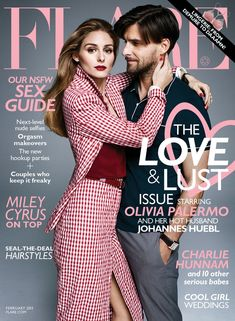 """""""Love and Lust"""" Olivia Palermo and Johannes Huebl for FLARE Magazine February 2015"""