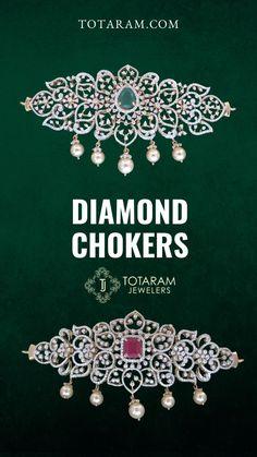 18K Indian Diamond Chokers- IGI Certified