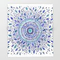 Indigo Flowered Mandala Art Print by Janet Broxon. Worldwide shipping available at Society6.com. Just one of millions of high quality products available.