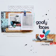 Thanks for pinning me: Lilith's scrapbooking venture: Goofy faces