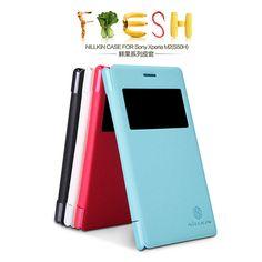 Nillkin Fresh Leather Flip cover Case Sony Xperia M2 (S50) -- Hanya Rp. 131.300,-