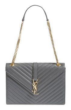 0e541e6bb0 See more. Saint Laurent  Cassandre  Leather Shoulder Bag available at   Nordstrom Ysl Purse