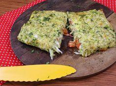 Abrobinha com queijo e brócolos.