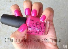 DIY Victoria's Secret-Inspired Nail Tutorial - ZeeBerry Blog #RIPEbyZeeBerry