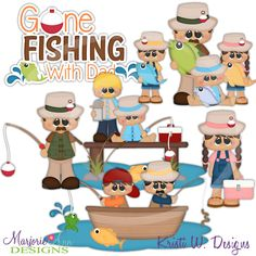 Fishing With Dad~SVG-MTC-PNG plus JPG Cut Out Sheet(s) Our sets also include clipart in these formats: PNG & JPG