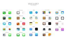 iOS 6 vs iOS 7 en iconos