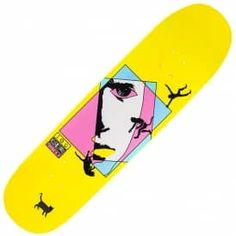 Welcome Skateboards Miller Faces On Catblood (Yellow Dip) Skateboard Deck 8.5""
