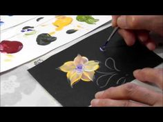 【トールペイント】描き方㉔ ストローフラワー How to draw - YouTube