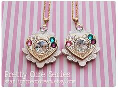 MADE to ORDER Jeweled Cure Module Necklace Suite Pretty Cure Inspired for Magical Girl Shoujo & Mahou Kei Fashion