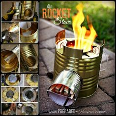 DIY Tin Can Rocket Stove to Cook Food or Heat Small Spaces: