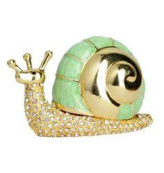Green & Gold Snail Trinket Box $30.00 www.Cute-Boxes.com