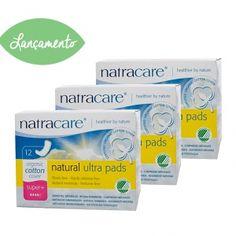 Absorvente orgânico Natracare Super Plus sem Abas Ultra Pads Pacote Jumbo com 36 absorventes- Lohas Store