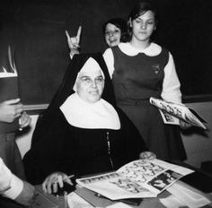 I went to Catholic school back when the mass was in Latin and nuns were our teachers. (LOL - Ya know she laughed later.)