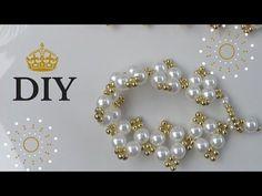 PULSEIRA DE PEROLAS GOLD (faça também um lindo colar e um brinco) - YouTube