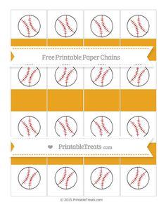 Free Marigold Baseball Paper Chains