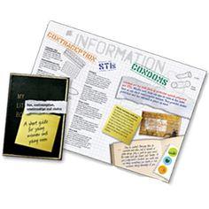 Brook advisory 'wallet sized' short leaflets