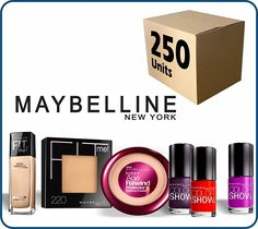 (Lot of 250 pcs) Maybelline New York Cosmetics Wholesale Liquidation Mixed Box >>> Click on the image for additional details.